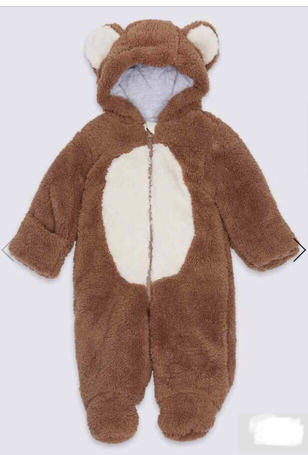 Cute bear snow suit