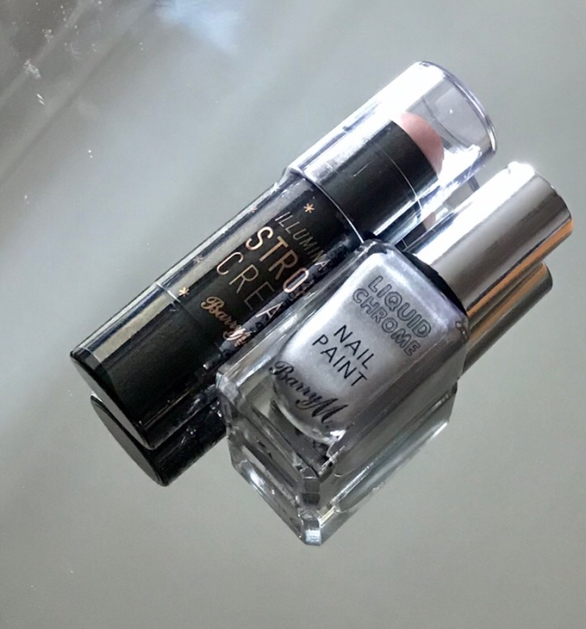 Barry M strobe cream & chrome nail paint