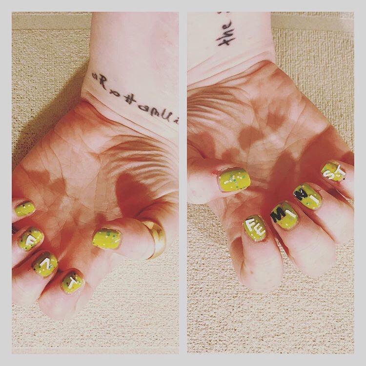 ly h Kerr, fat feminist nail art