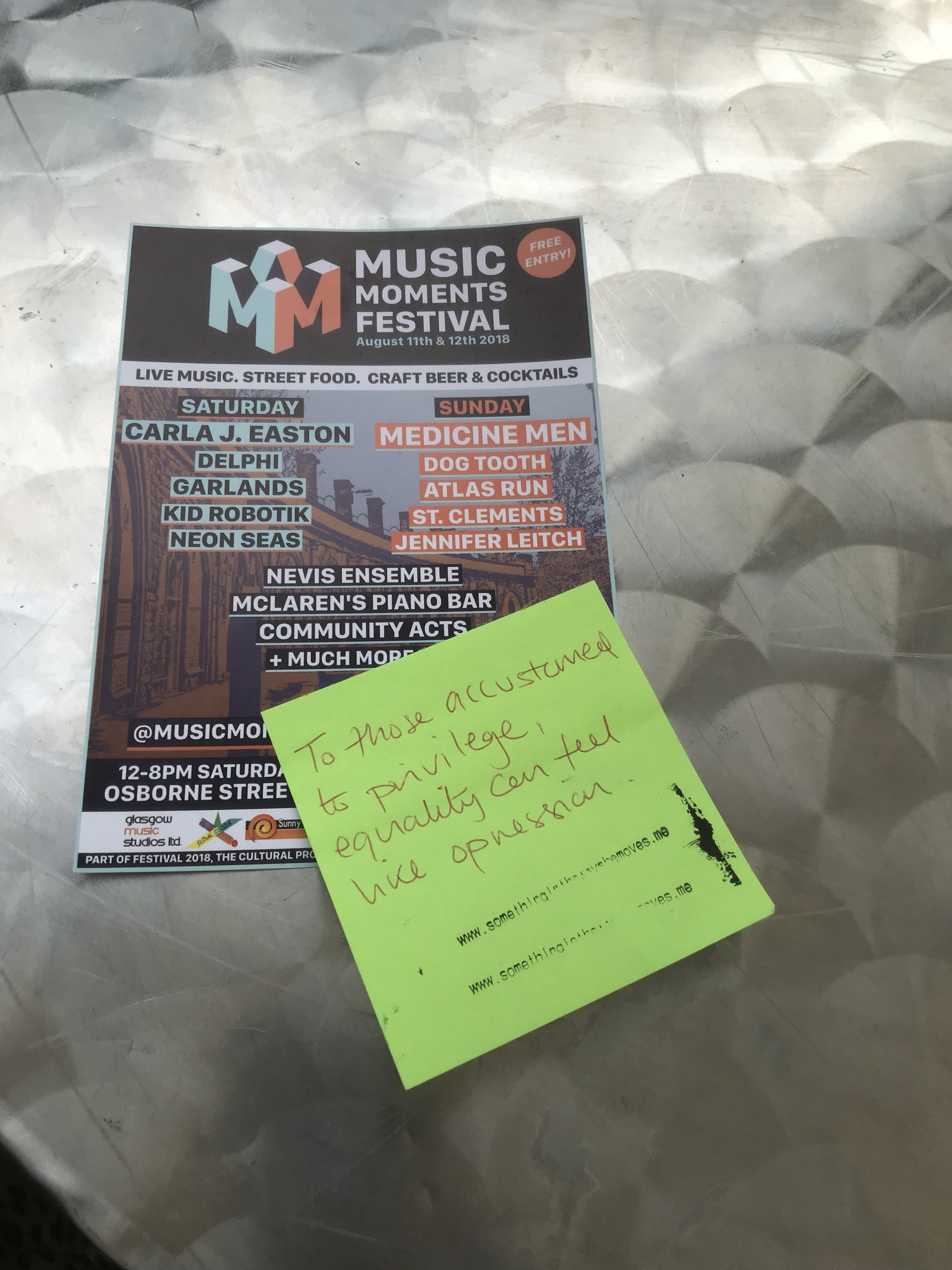 Project Post it at Music Moments Festival