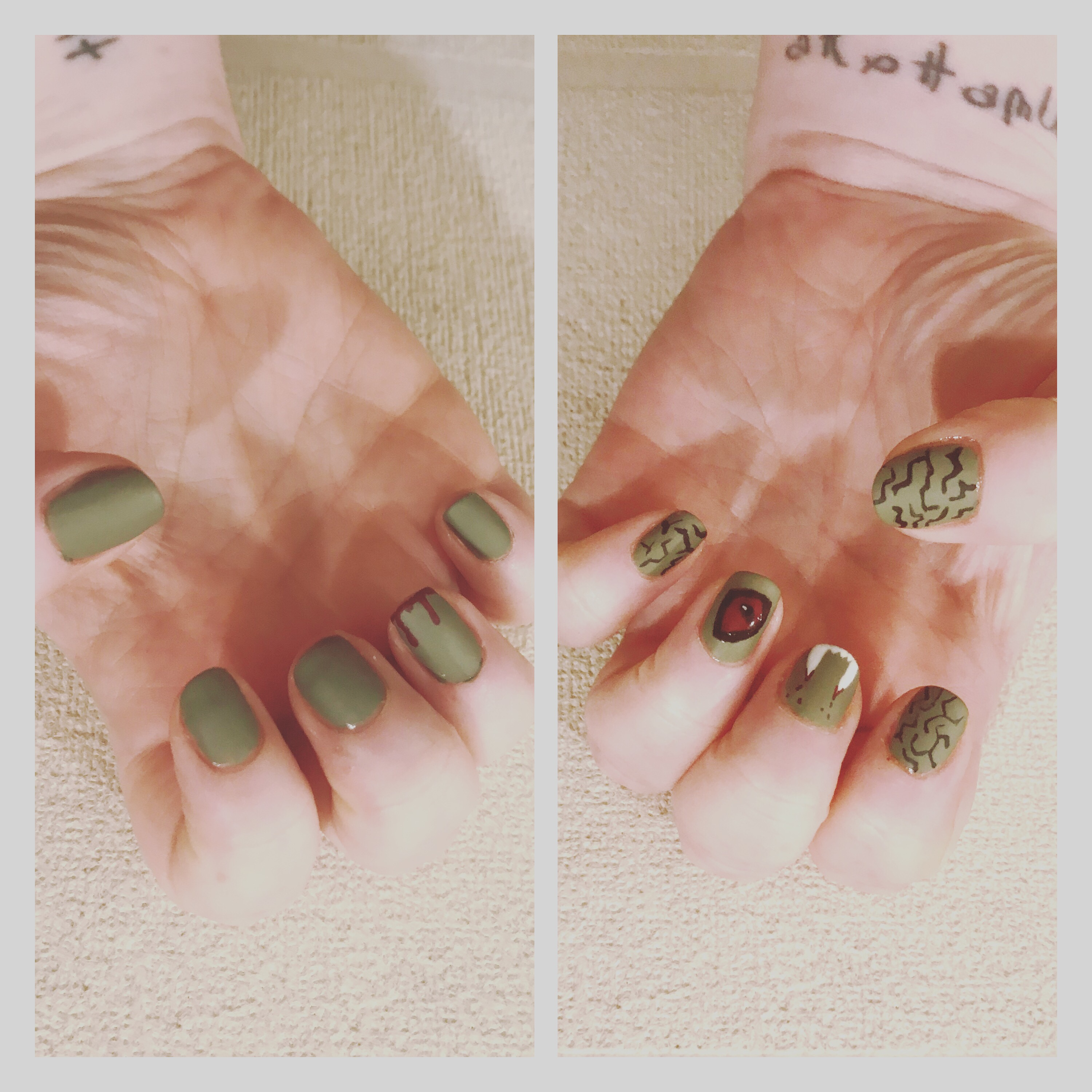 Monster nail art, ly h Kerr