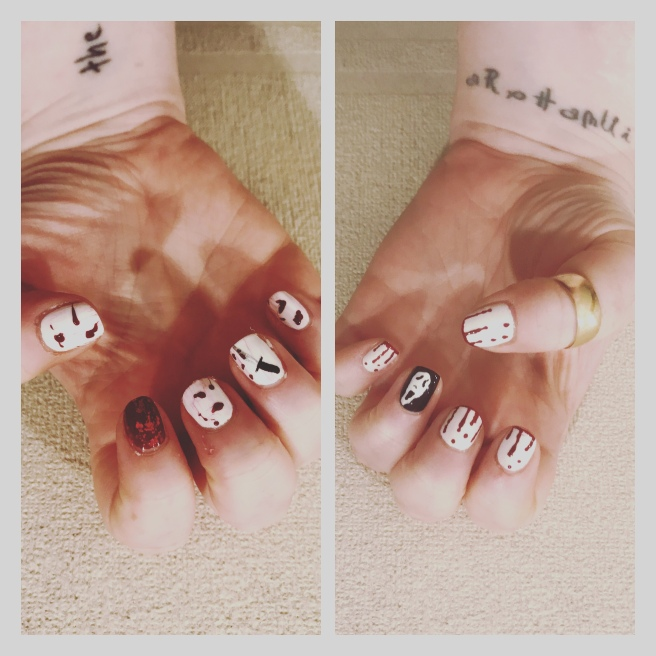 Scream nail art, ly h Kerr