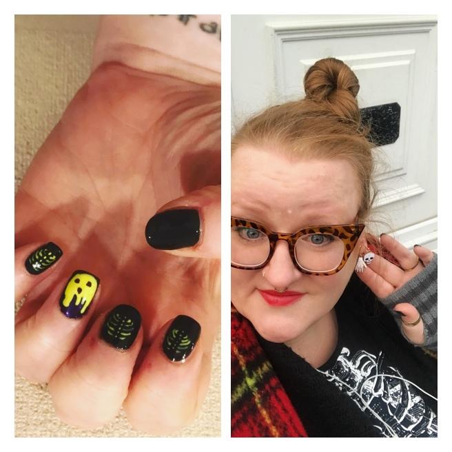 Halloween nail art, ly h Kerr