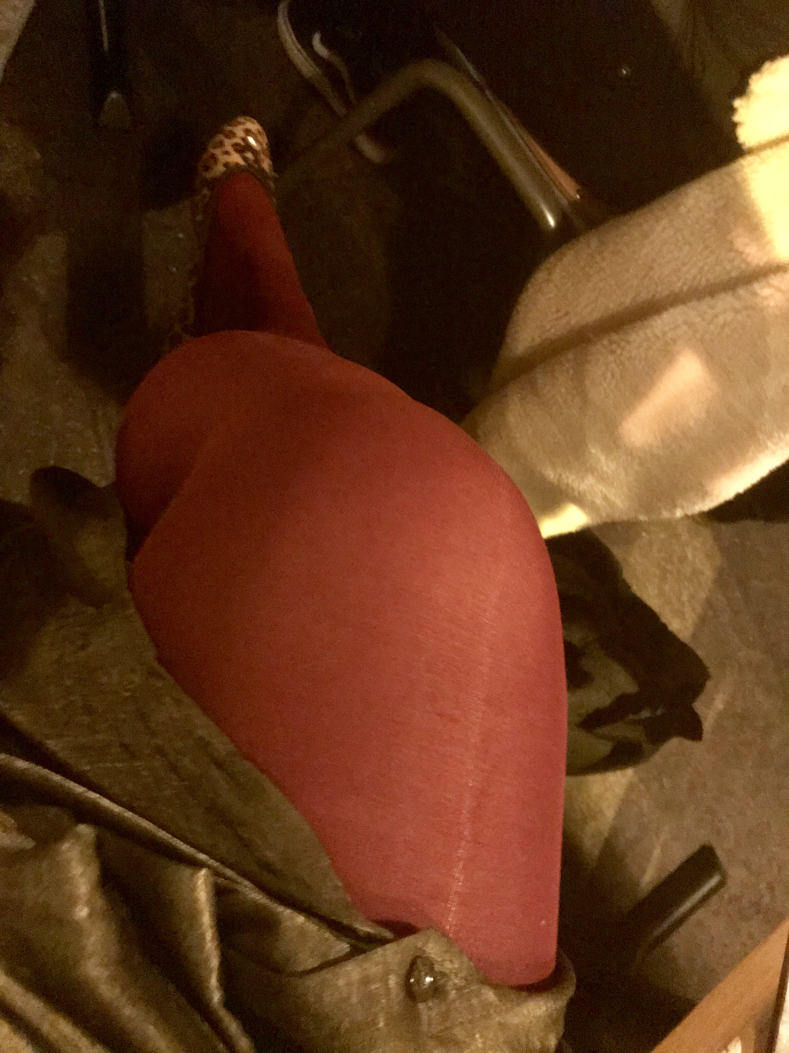 Red tights & leopard print