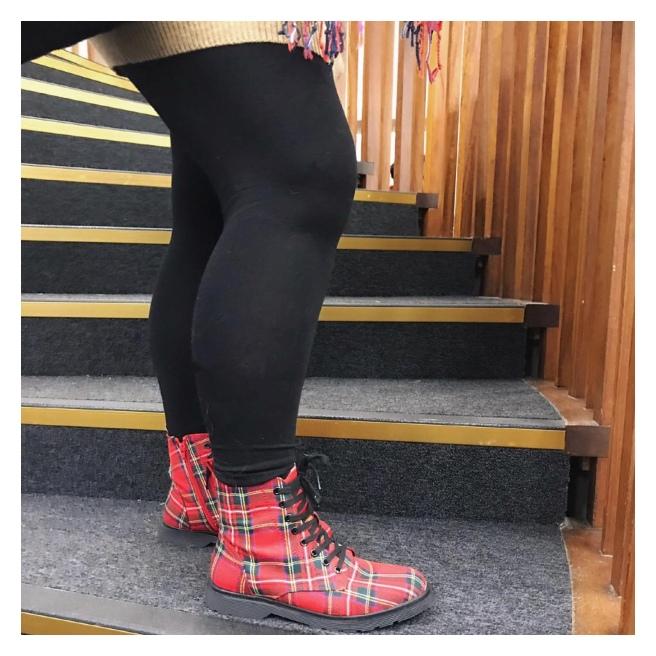 Tartan boots
