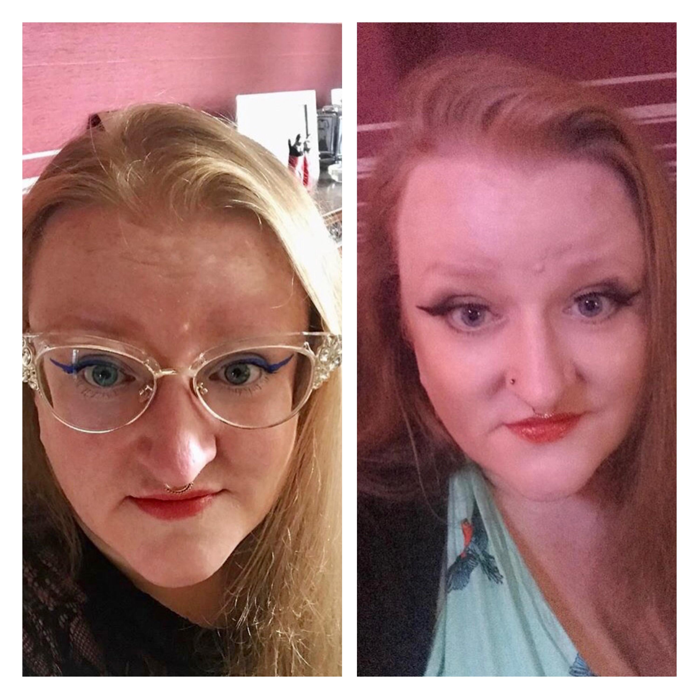 ly h Kerr eyeliner flicks