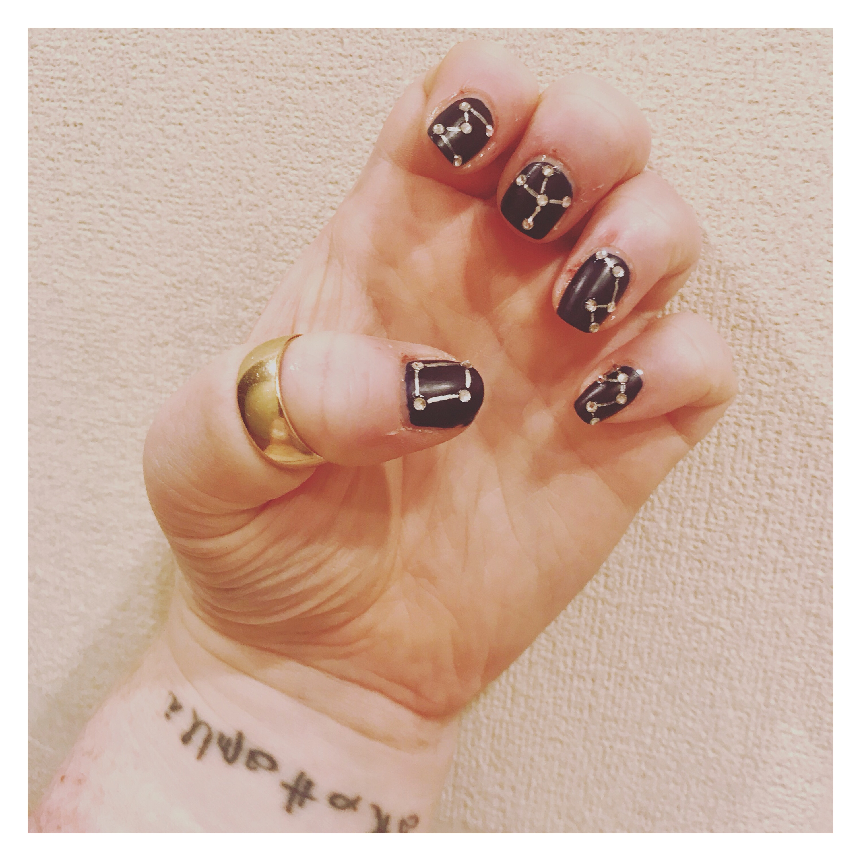 Constellation nail art by ly h Kerr
