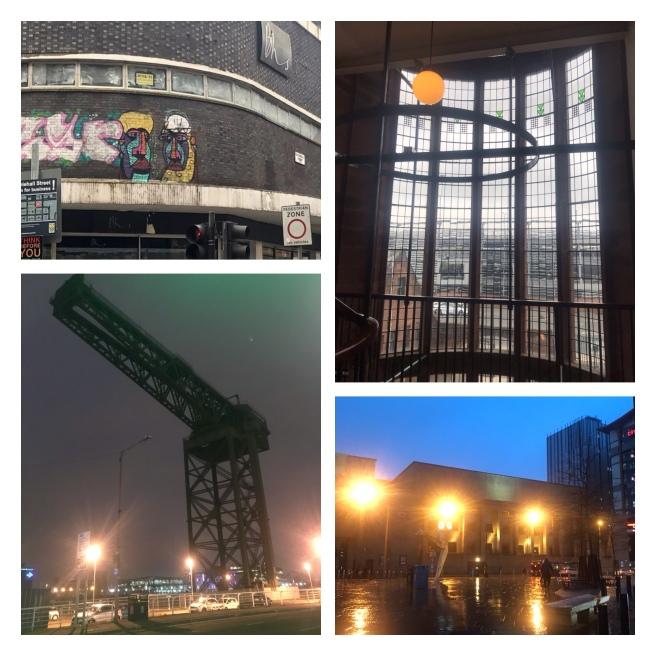 Finnieston crane, Scotland st school, Glasgow street art