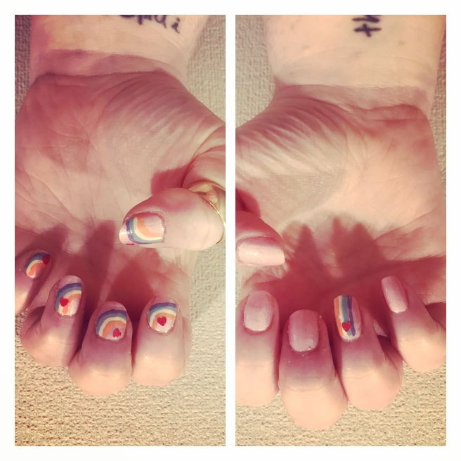 ly h Kerr rainbow nail art