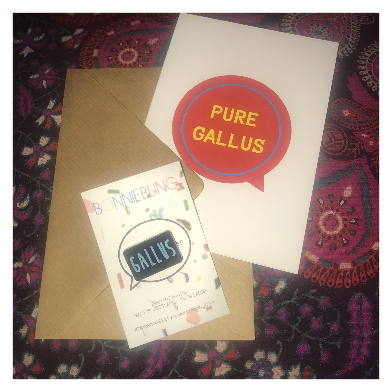 Bonnie Bling, Gallus items