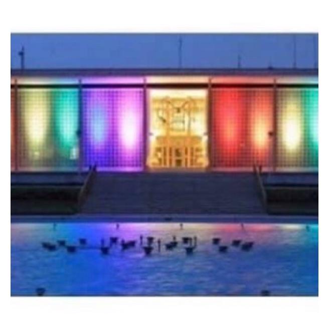New Delhi embassy lit in rainbow colours
