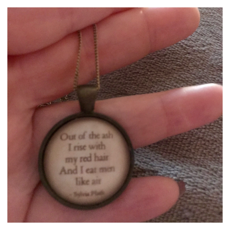 Sylvia Plath pendant