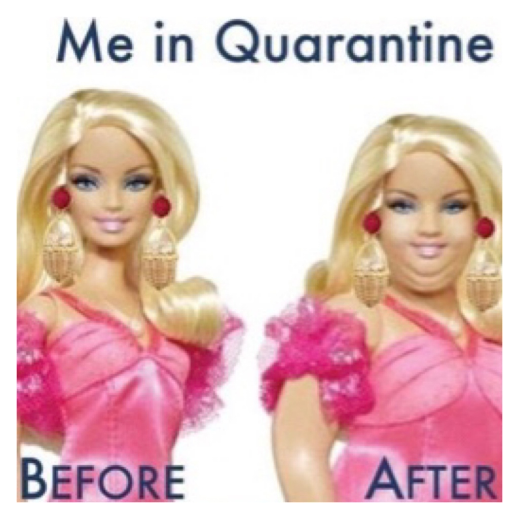 Barber before & after quarantine meme