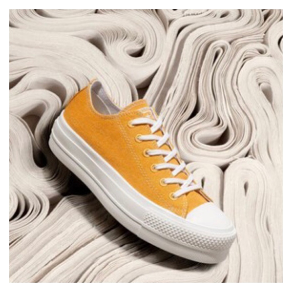 Converse  yellow flatforms