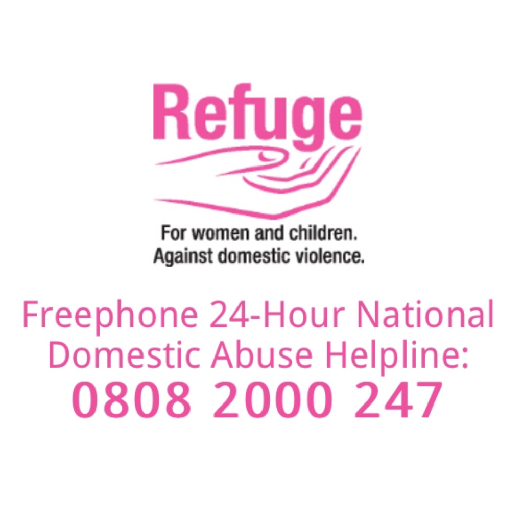 Refuge logo and helpline
