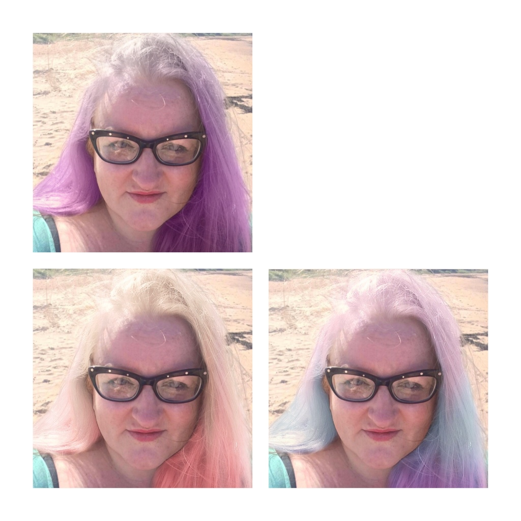 Hair day filter candy floss colours