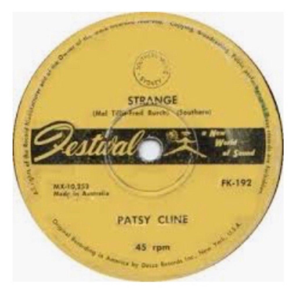 Yellow vinyl of patsy cline  strange