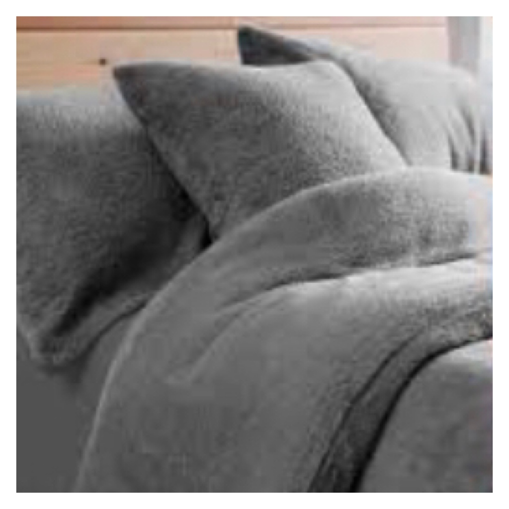 Grey fleecy bedsheets