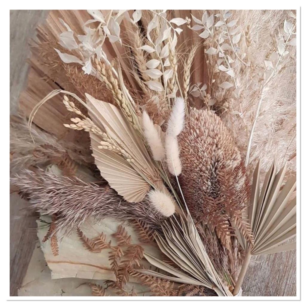pampas  grass & dried flower arrangement